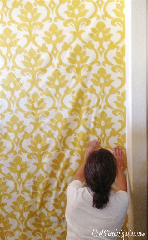 how to wallpaper with fabric using starch cre8tive designs inc