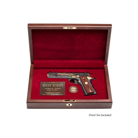wall showcase 60 45 pd1749 2017 west point class pistol display case engraved top