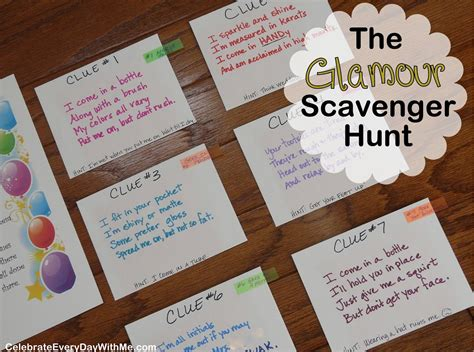 s day scavenger hunt for boyfriend breaker on a spa day the quot
