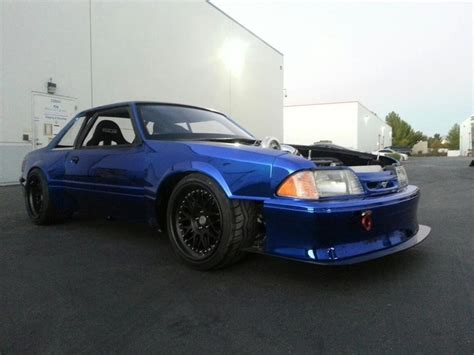 wide fox mustang wide foxbody mustang chrome blue paint notch