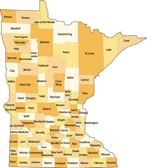 map of mn maps minnesota county map