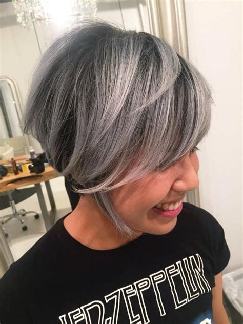 best way to blend gray hair into brown hair 15 best grey hairs images on pinterest going gray grey