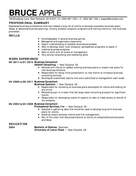 Business Skills For Resume by Resume Business Resume Business Simple Skills For Resume
