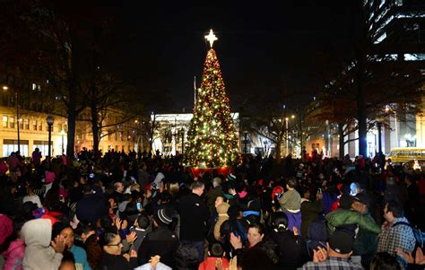mclevy green christmas tree lighting newstimes