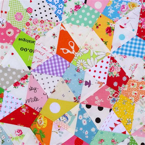 Piecing Patchwork Patterns - kaleidoscope block and free foundation paper piecing