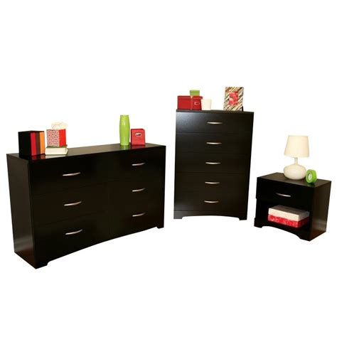 black dresser and nightstand south shore maddox dresser with chest and nightstand set