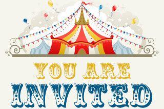 circus theme party invitation danielle degroft