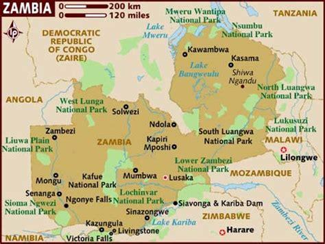 lusaka zambia map 47 zambia 1964 present
