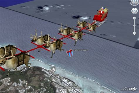 google images of santa claus watch santa claus make his deliveries google earth blog
