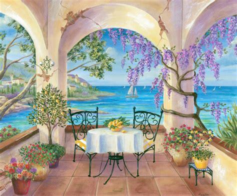 painting images cheryl hamilton balcony view
