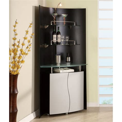 global furniture cylinder corner bar  black