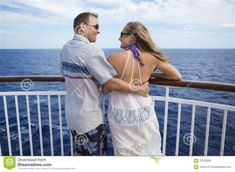 Vacations For Married Couples Happy Married On A Cruise Together Stock Image