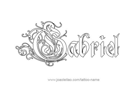 angel name tattoo designs gabriel name designs