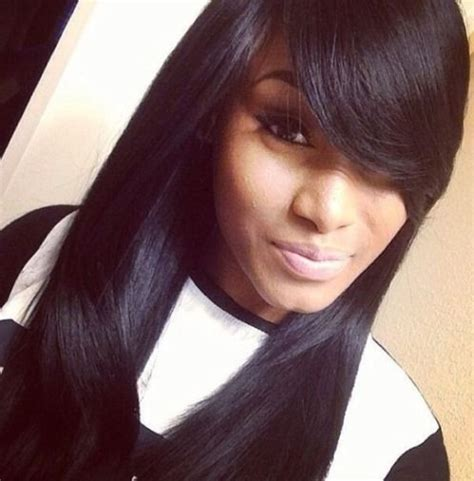 womens hairstyle covers half of her face 20 weave hairstyles for black women