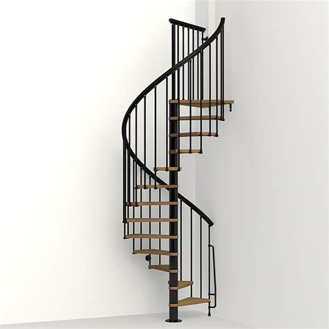 spiral staircase shop arke nice1 51 in x 10 ft black spiral staircase kit at lowes com