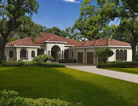 mediterranean style home plans impressive mediterranean style home plans 4 single story