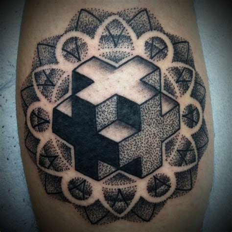fractal tattoo fractal geometric tattoomagz