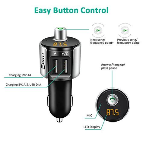 bluetooth fm transmitter bovon wireless car bluetooth import it all