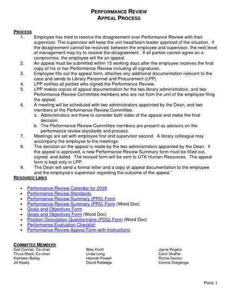 Sle Of Evaluation Letter For An Employee performance evaluation rebuttal letter sle rebuttal to