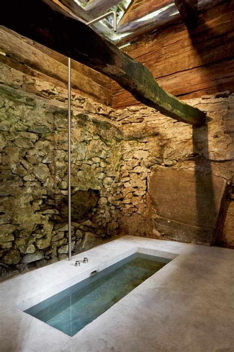 unexpected  stone house interior