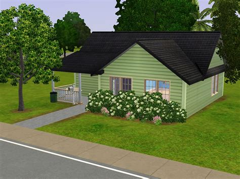 Mod The Sims   Lil Green Bungalow: A Small Home For Your Sims
