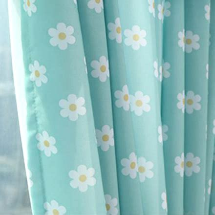 blue and white floral curtains baby blue and white floral print polyester short bay