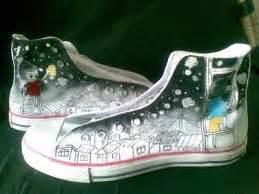 Cat Akrilik Waterproof lukisan aliran naturalisme sepatu lukisan