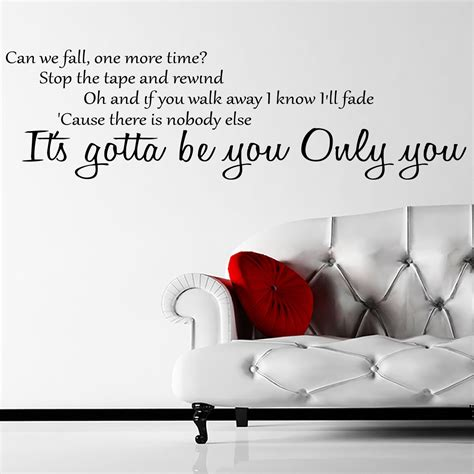 wall stickers lyrics one direction gotta be you lyrics wall sticker world of