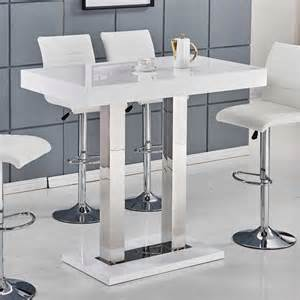 White Bar Table Caprice Bar Table In White High Gloss And Stainless Steel