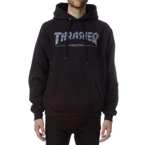 thrasher x gx1000 hoodie black
