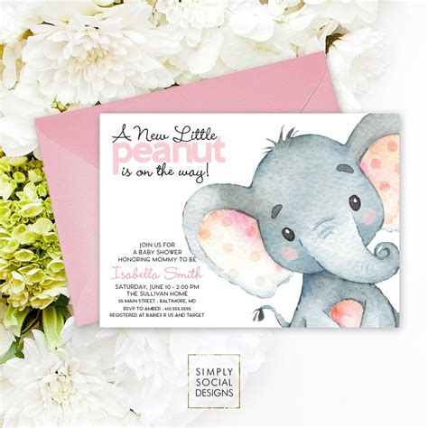 Baby Elephant Shower Invitations by Pink Elephant Baby Shower Invitation It S A