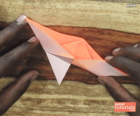 how to make a paper boat slowly paper knife boat step 14