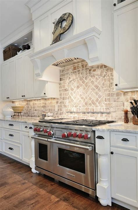 whitewash cabinets with granite countertops kitchen brick backsplash kitchen with granite countertop