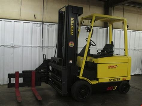 swing reach forklift hyster electric man down swing reach turret forklifts
