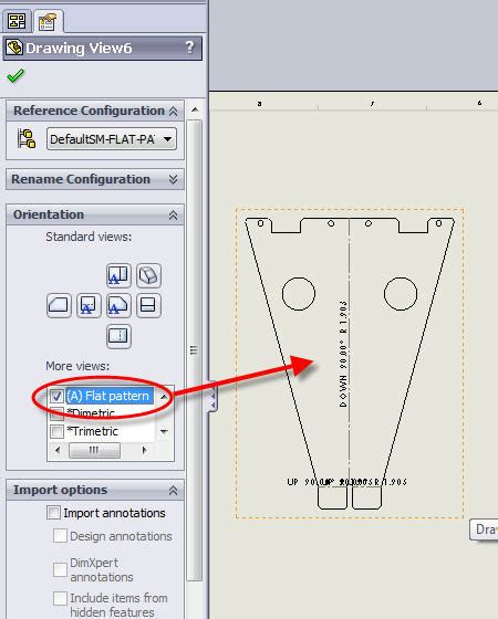 solidworks flat pattern flat pattern views for sheet metal multi body parts