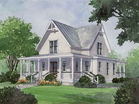 southern living house plans with porches four gables print southern living house plans
