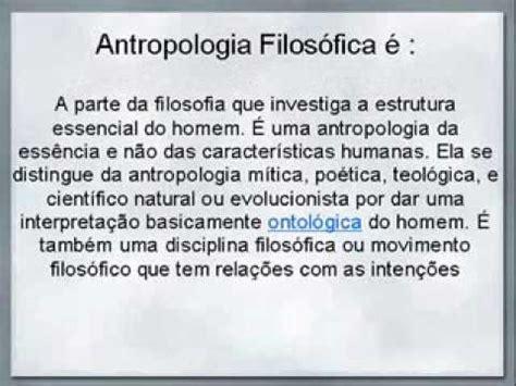 antropologia filosofica youtube