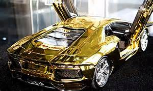 What Are Lamborghinis Made Out Of 7 5m Scale Model Of Lamborghini Aventador Is Fashioned