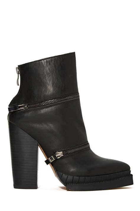 boot section nasty gal section 3 boot in black lyst