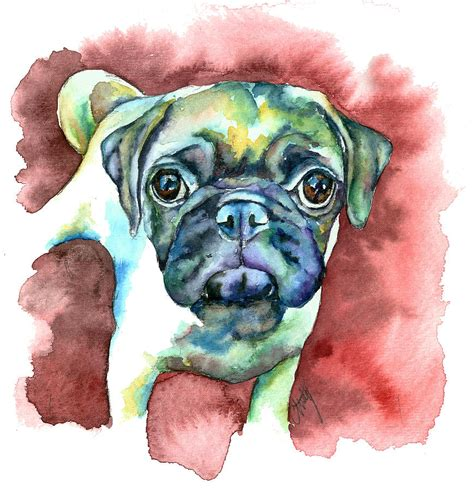 pugs in paintings pug in painting by freeman