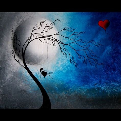 swing the heartache heartache and poetry 72 original fantasy tree painting