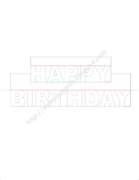 Pop Out Birthday Card Template