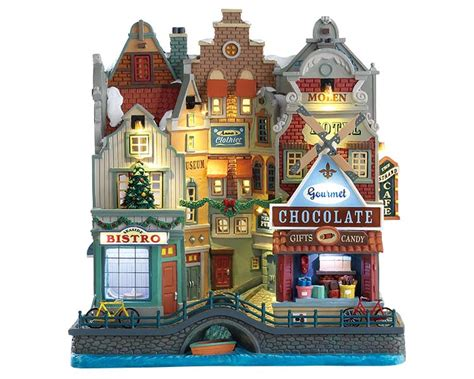 lemax village collection seaside christmas facade battery