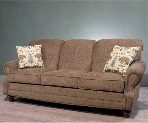charles schneider denco brown sofa with wildlife taupe