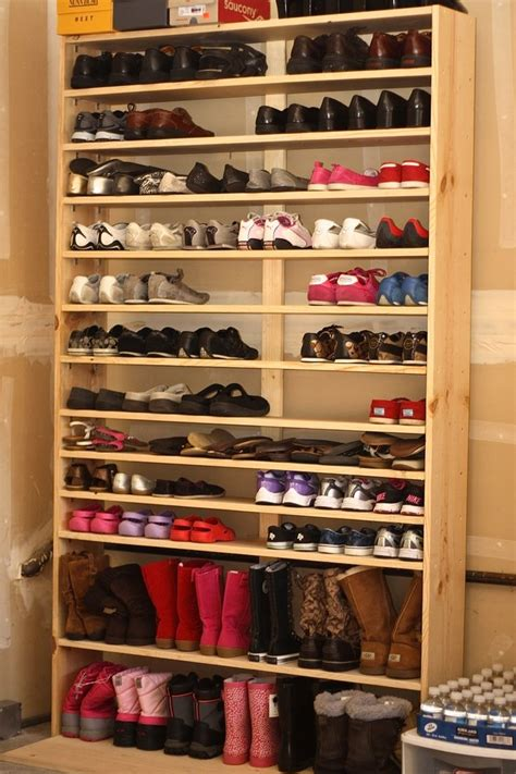 Closet Shoe Shelves Wood by Best 25 Wooden Shoe Racks Ideas On