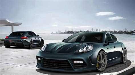 porsche sports car black porsche panamera black sports car hd desktop
