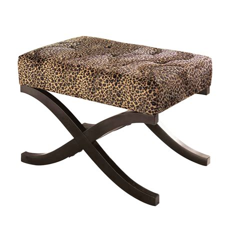 Leopard Print Stool by Essential Home Leopard Animal Print Accent Stool