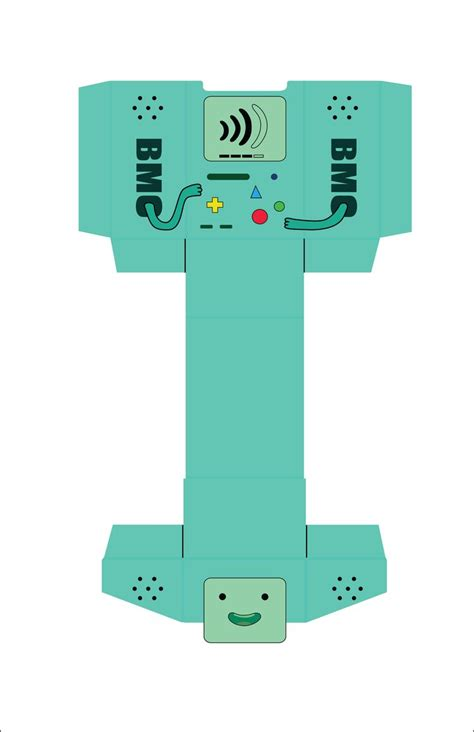 Papercraft Box Template - bmo card box template by akebane on deviantart adventure