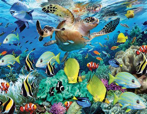 Puzzle Sea the journey of the sea turtle mini jigsaw puzzle