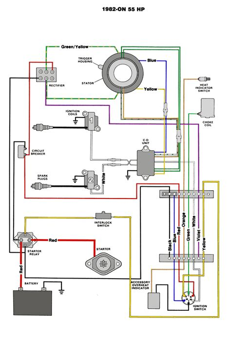 diagram switch wiring ignition 19880evinrude 35 hp mercury outboard motor wiring diagram get free image about wiring diagram